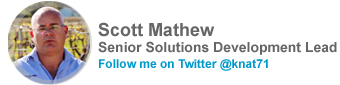 Scott Mathew, Senior Solutions Development Lead