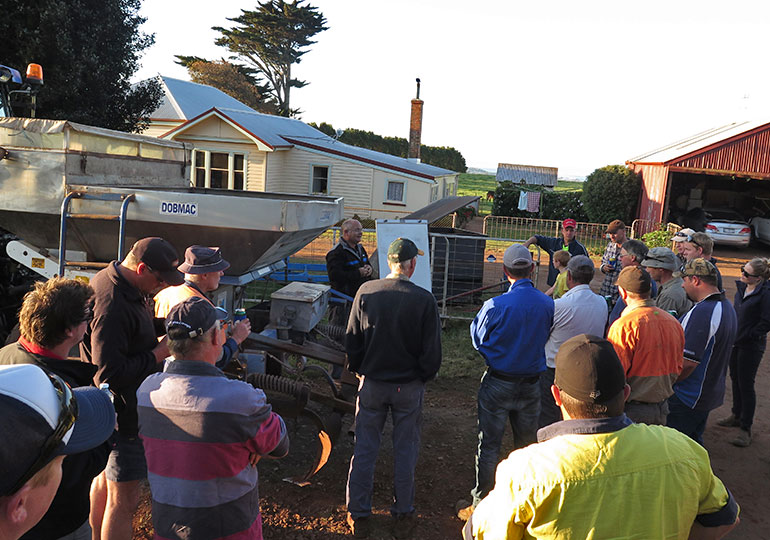 Workshop training with growers