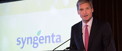 Syngenta CEO Erik Fyrwald announces $2 billion drive for sustainability and innovation in agriculture. He's pictured here in Sydney for the 2017 Good Growth Awards.