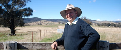 Mudgee Farmer, George Hamilton, is glad he has AgriClime in such uncertain climatic times.