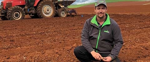 Tasmanian grower Tim Walker benefits from using MIRAVIS in his potato crop.