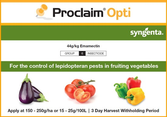 Proclaim Opti for fruiting vegetables