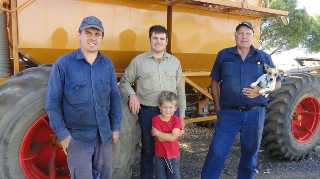 Gurley grower, Brad Jackson, with his brother Phil, his nephew Isaac & his father Peter