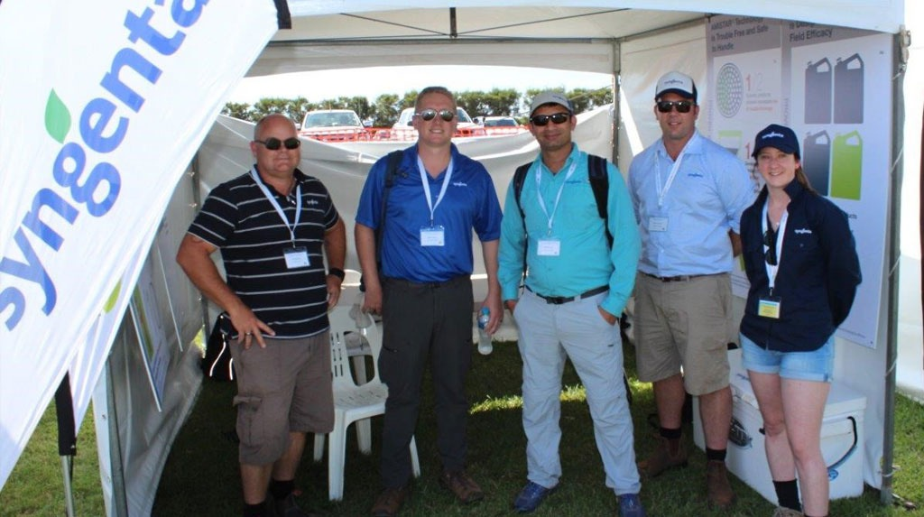 Scott Mathew, Matt Kinkade (Watermelon Breeder), Rakesh Kumar (Cantaloupe Breeder), James Considine (Territory Sales Manager), Rachel Archbald (Field Biologist - Seeds)
