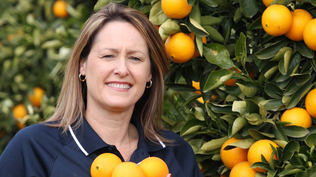Citrus grower Tania Chapman tirelessly champions Australian agriculture and the development of new export markets for its produce.